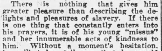 A Negro That Prefers Slavery – The Chattanooga Daily Times, 1908