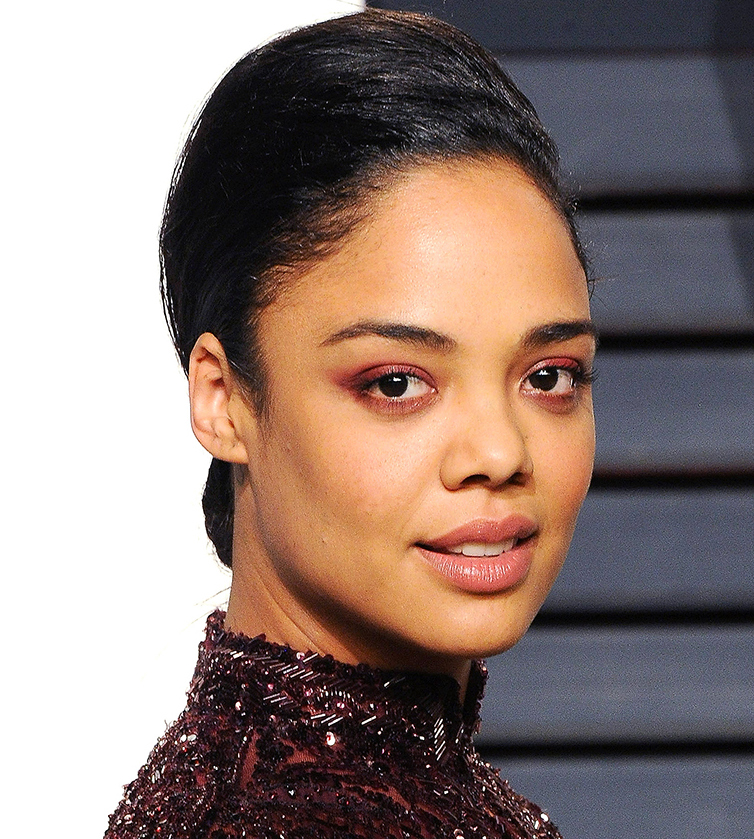 BEVERLY HILLS, CA - FEBRUARY 26:  Actress Tessa Thompson arrives at the 2017 Vanity Fair Oscar Party Hosted By Graydon Carter at Wallis Annenberg Center for the Performing Arts on February 26, 2017 in Beverly Hills, California.  (Photo by Jon Kopaloff/FilmMagic)