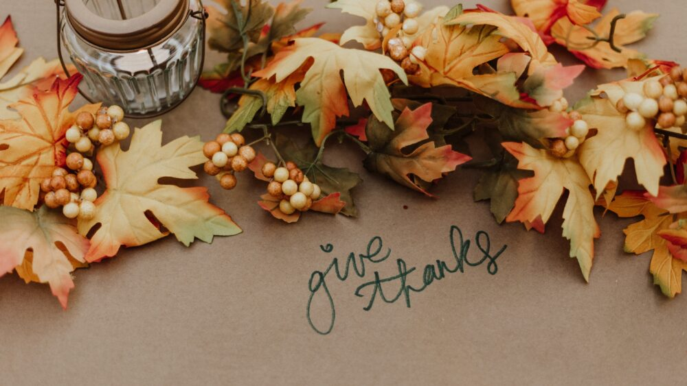 Giving Thanks for a successful business
