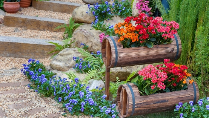 Repurposing Items for Garden and Outdoor Living Space photo