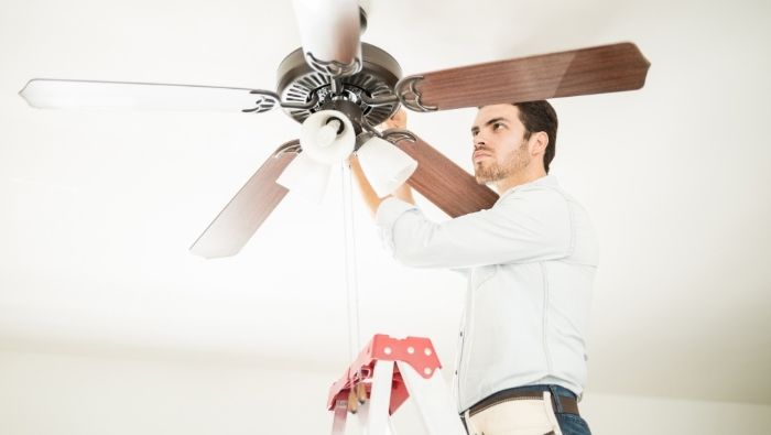 DIY Ceiling Fan Cleaning and Maintenance photo