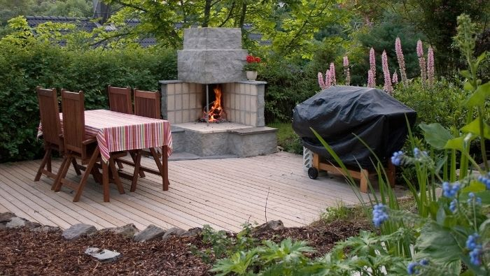 How to Build an Affordable Contemporary Outdoor Fireplace photo