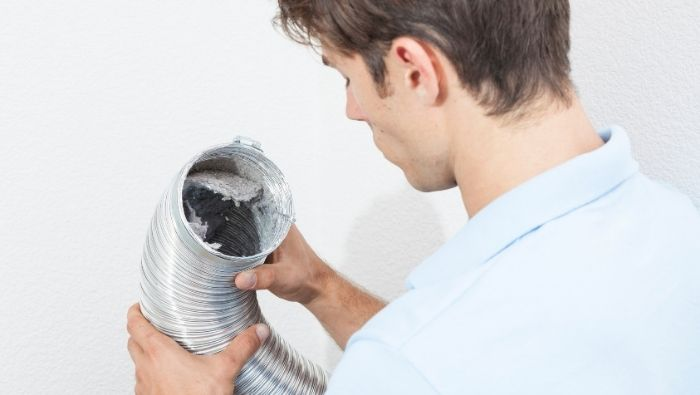 Cleaning a Dryer Vent photo