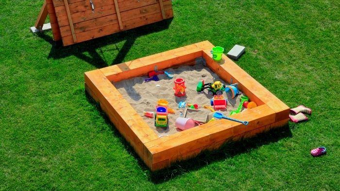 Inexpensive Homemade Sandbox ideas photo