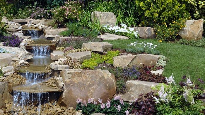 An Affordable DIY Backyard Waterfall photo