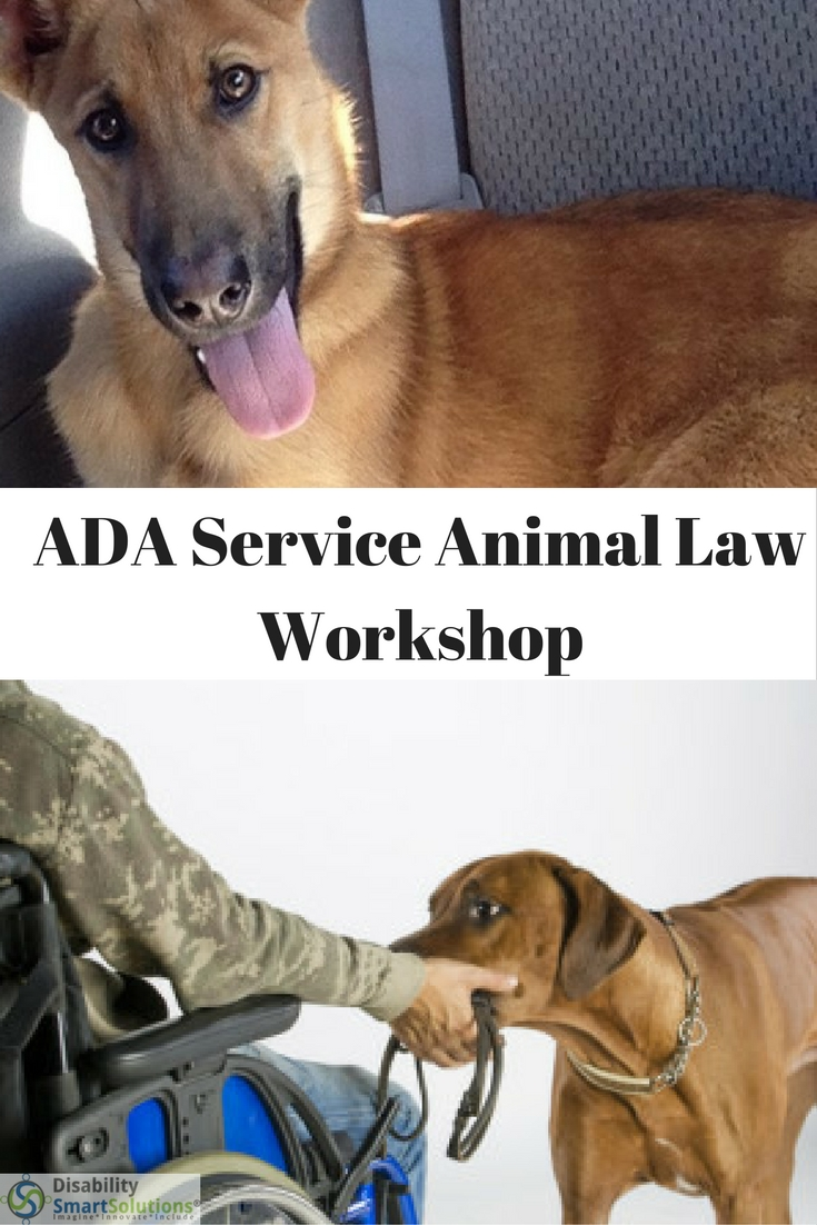ADA Service Animal Law Workshop