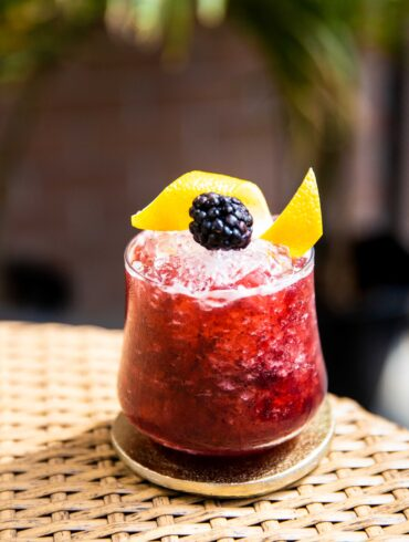 blackberry gin sour