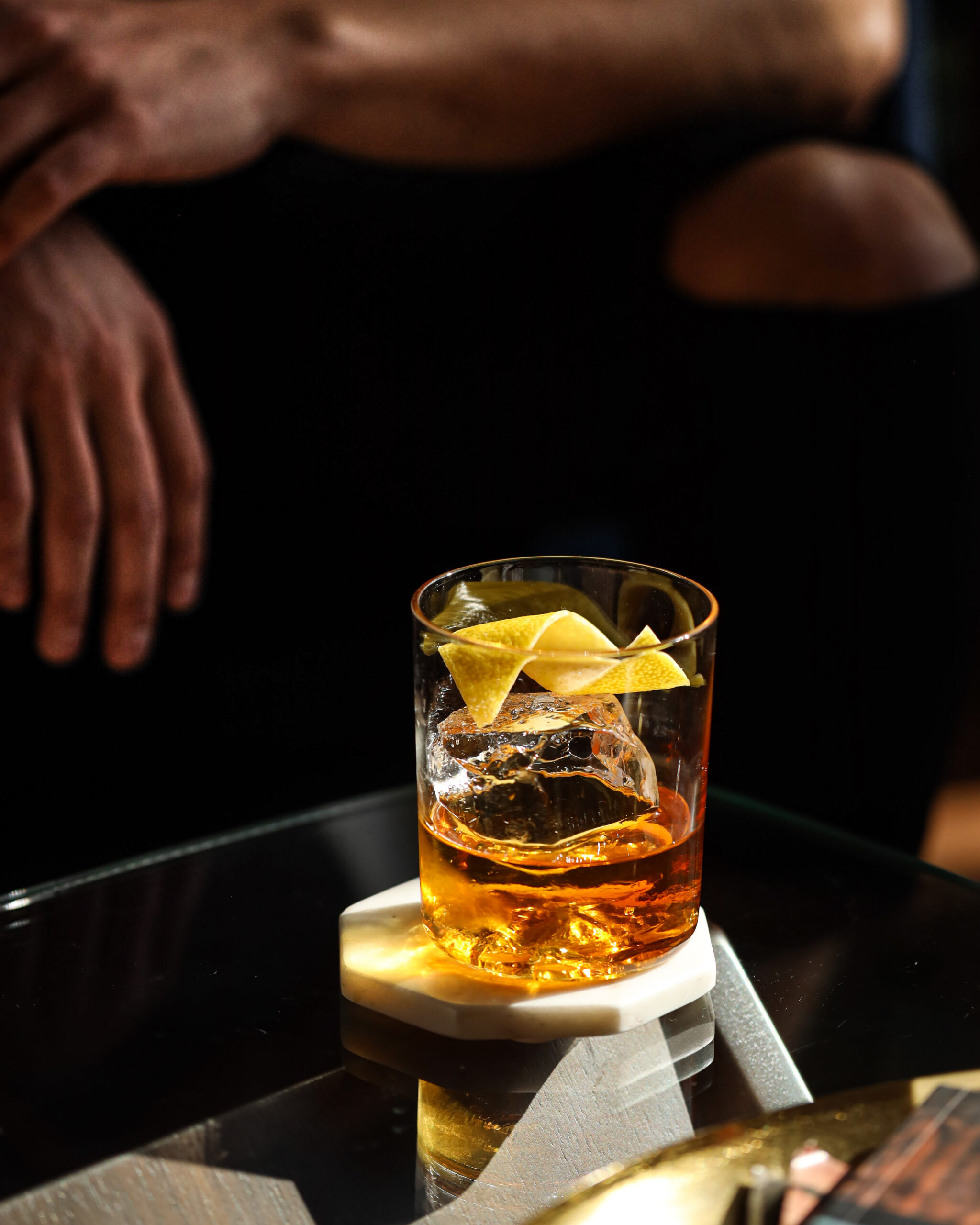 cognac old fashioned apartment bartender