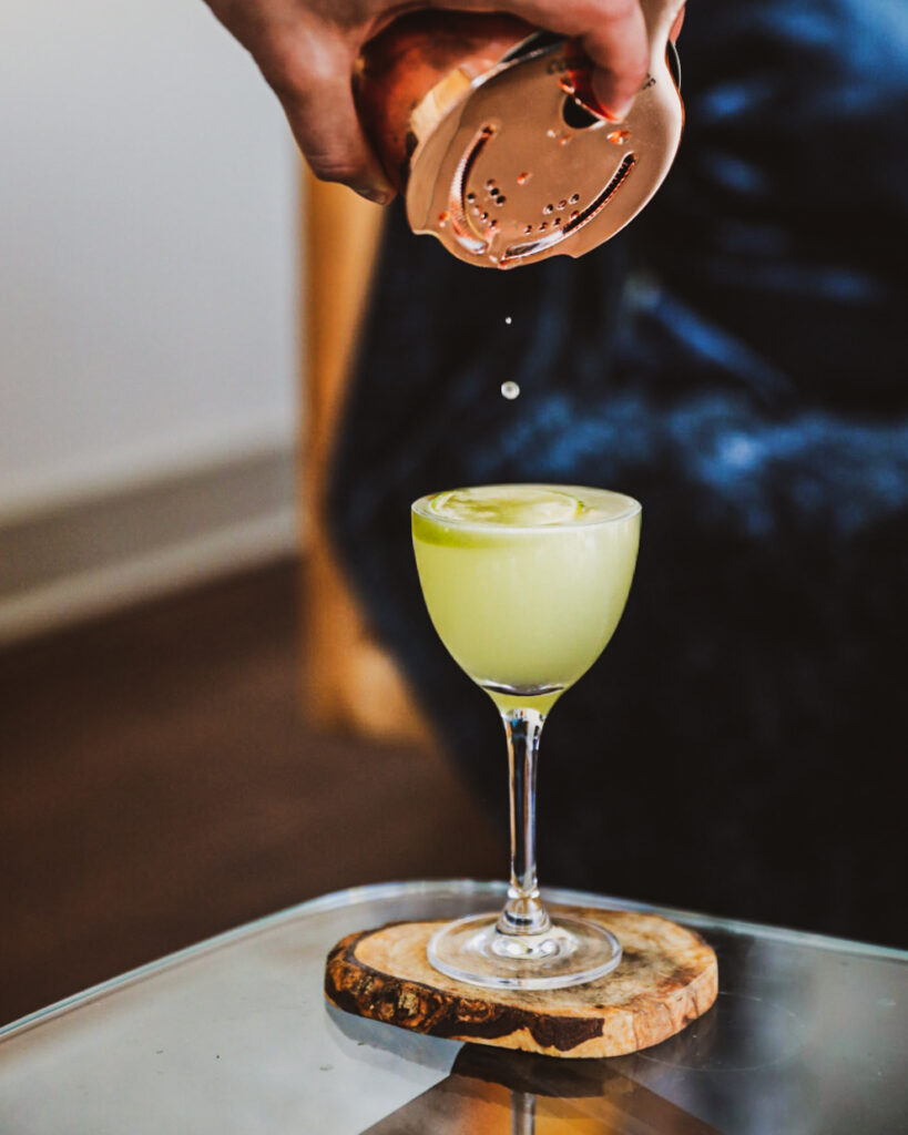 pineapple mezcal sour apartment bartender