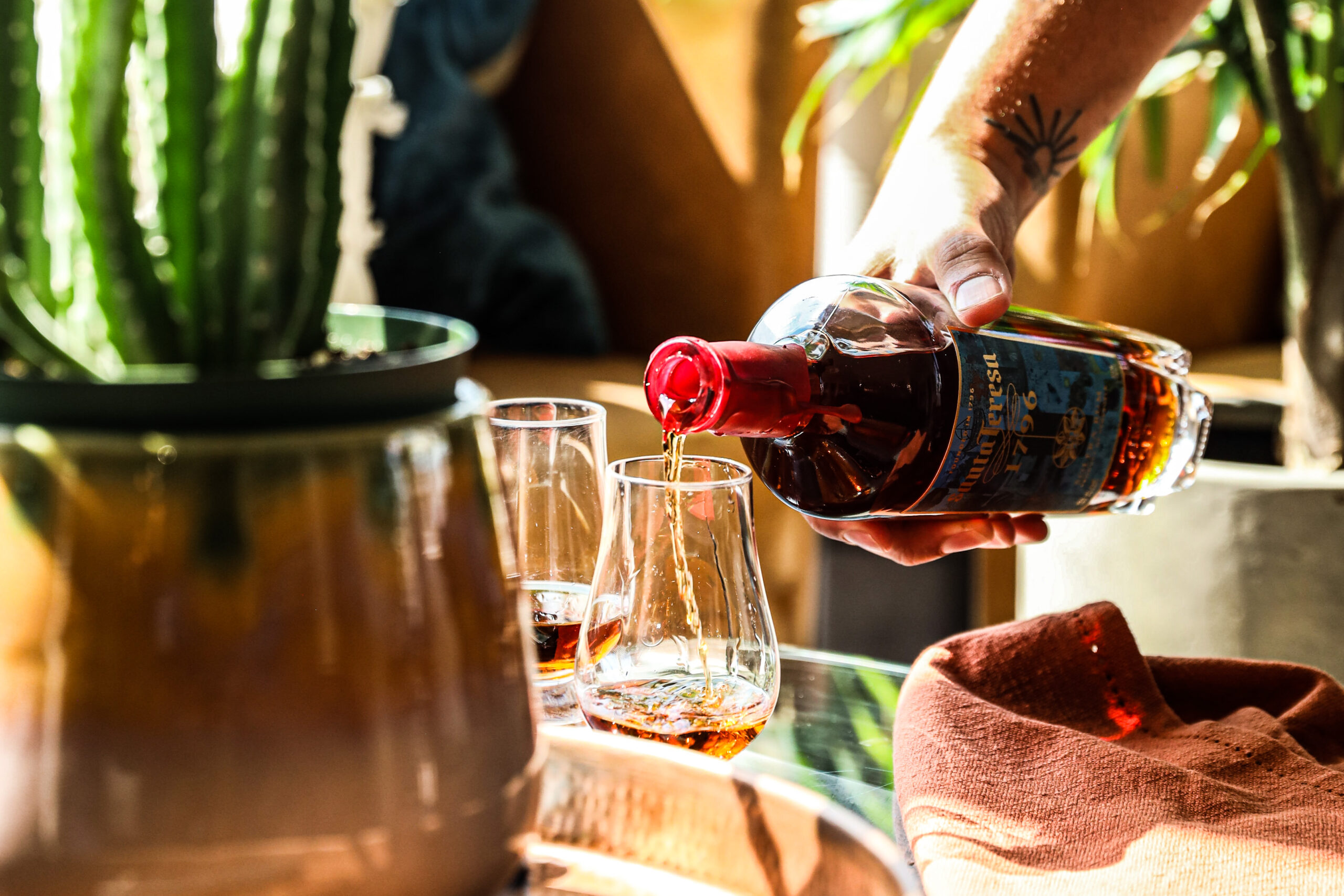 pour of rum