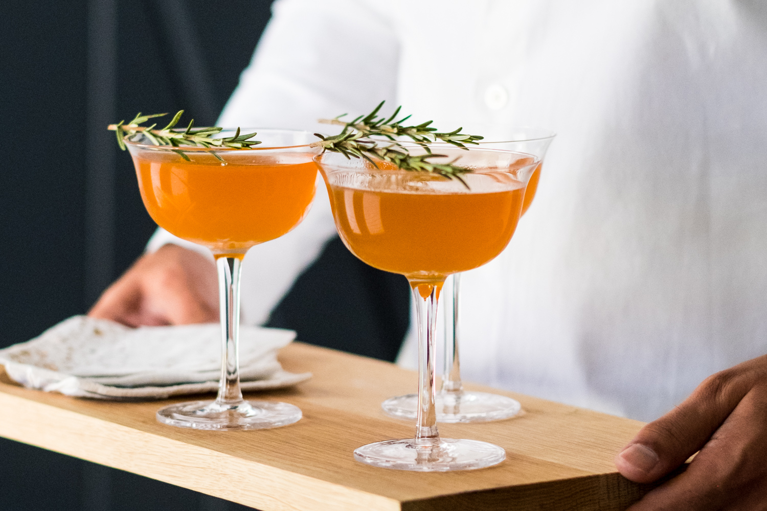 Spiced pear tequila cocktail