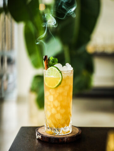 Cinnamon Pineapple Tropical Rum Cocktail