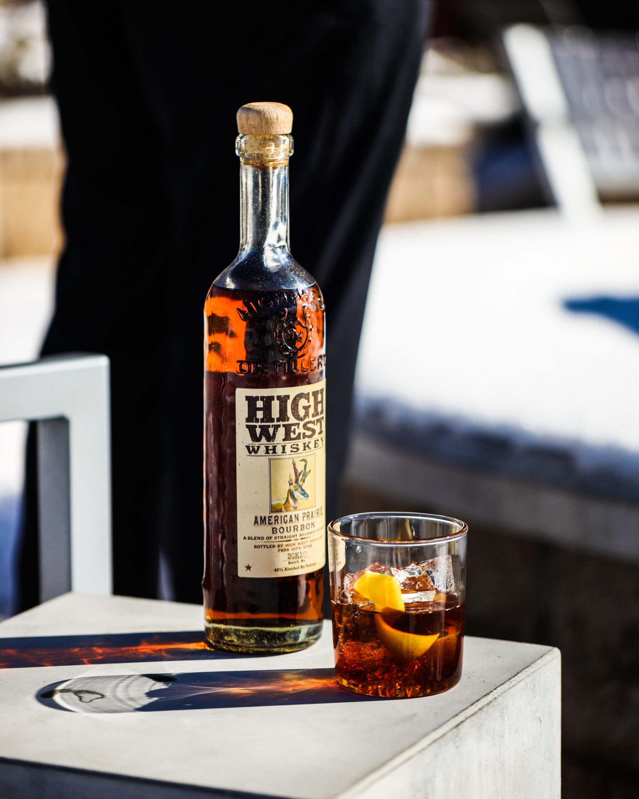 Winter old fashioned with High West Whiskey