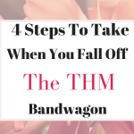 4 Things To Do When You Fall Off The THM Bandwagon