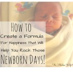 How to Create a Formula for Happiness That Will Help You ROCK the Newborn Stage!