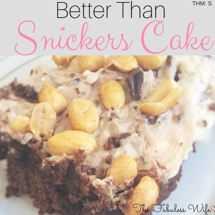 Better Than Snickers Cake
