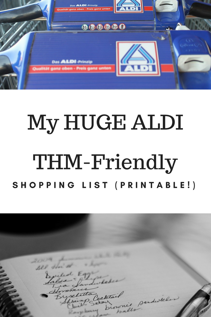THM ALDI Shopping List