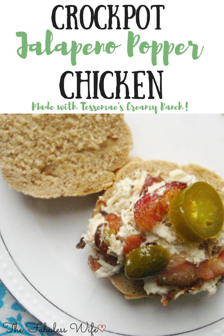 Crockpot Jalapeno Popper Chicken