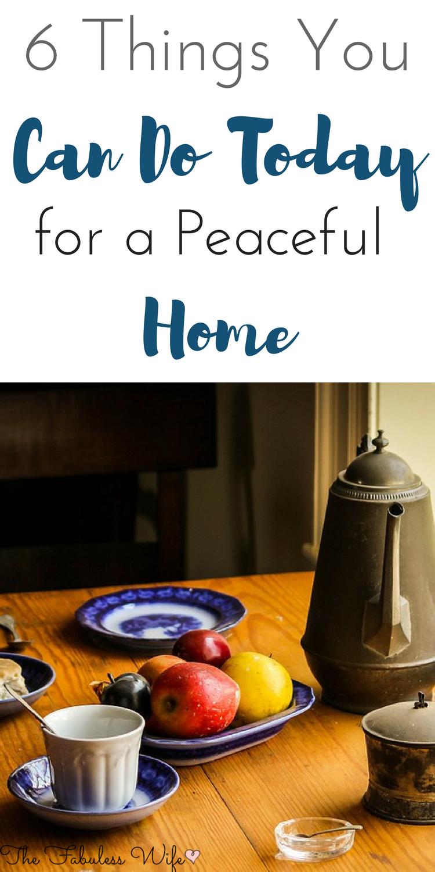 peaceful home