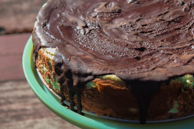 Shamrock Cheesecake (THM:S, Low-Carb, Sugar-Free, Keto)