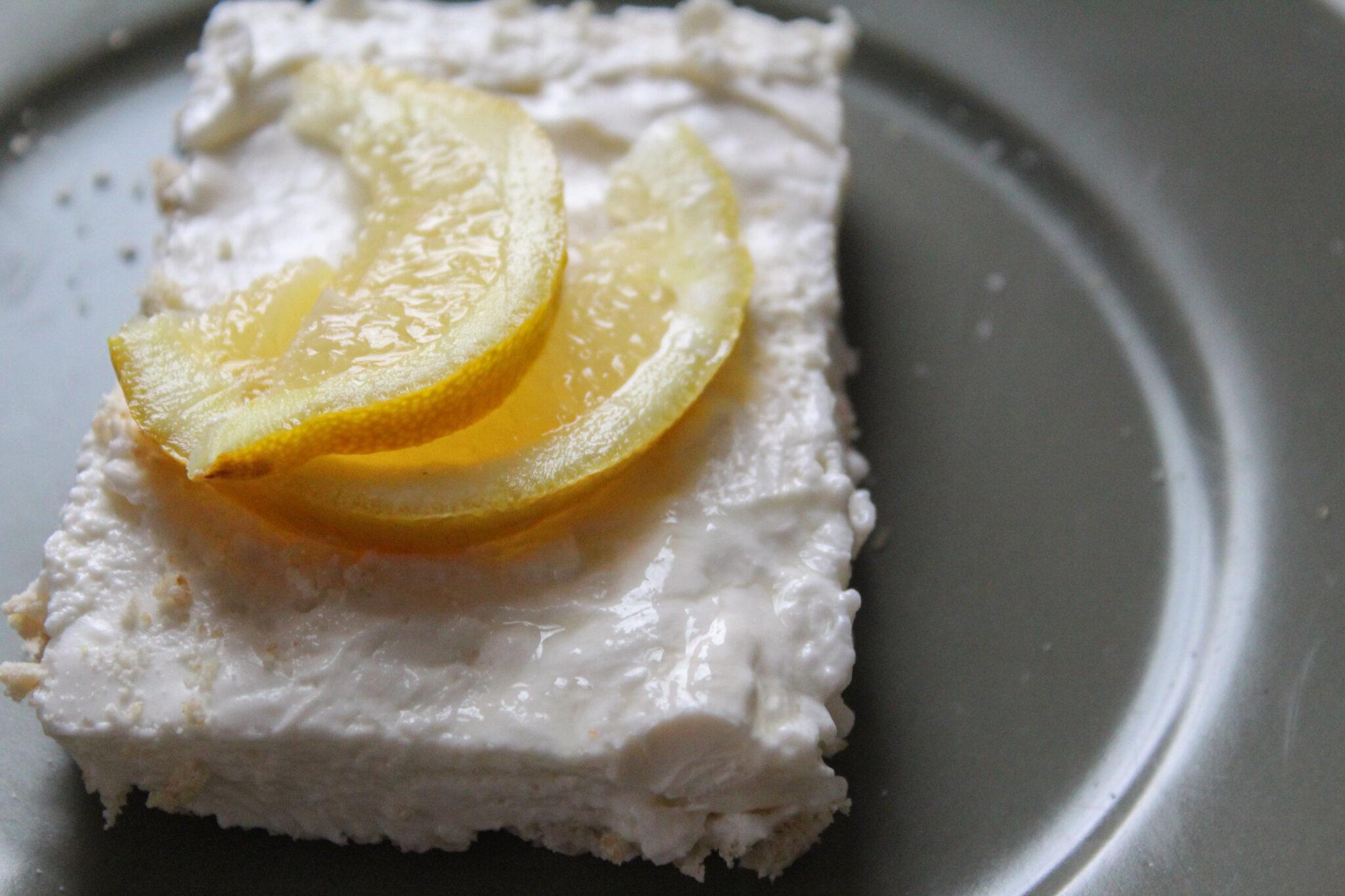 No bake lemon cheesecake bars Keto Low Carb Sugar Free Trim Healthy Mama