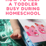 How to Keep a Toddler Busy During Homeschool Hours