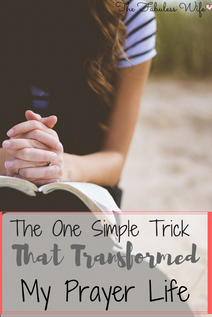 Does your prayer life need a boost? Check out what I did to revamp mine!