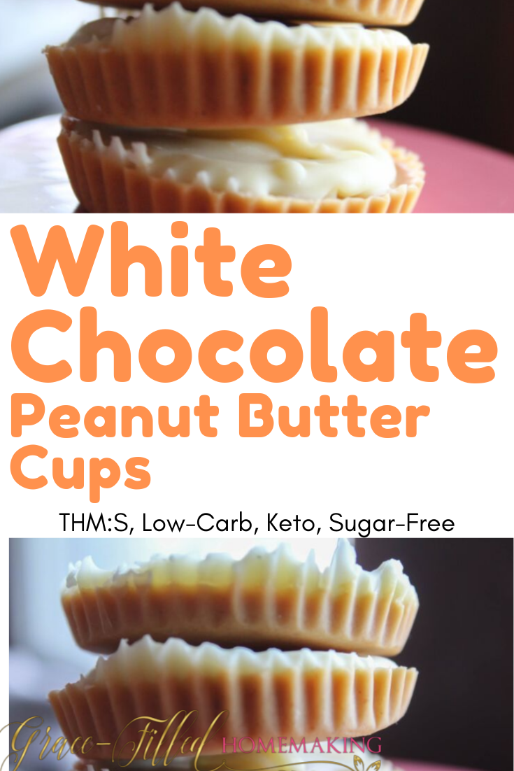My White Chocolate Peanut Butter Cups are deceivingly easy to make and are sure to ward off any sugar cravings. They're THM:S, keto and sugar-free.
