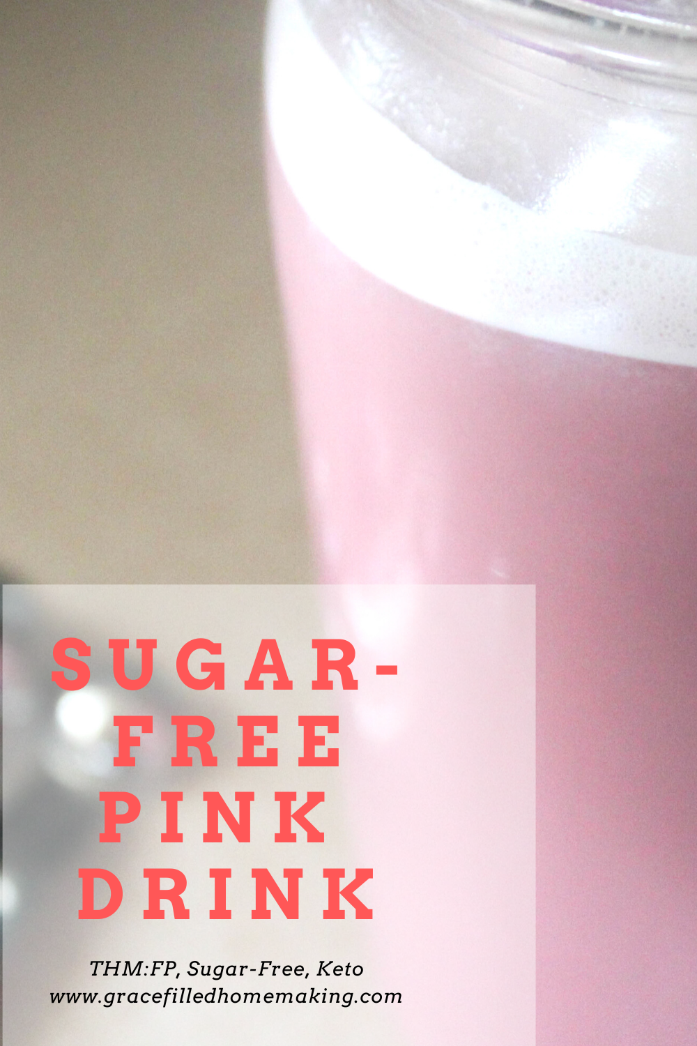 Craving a pink drink without all the sugar? Here's my healthy version! It's sugar-free, dairy-free, and a Trim Healthy Mama Fuel Pull.