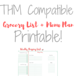 Trim Healthy Mama FREE Weekly Grocery List + Meal Plan Printable!