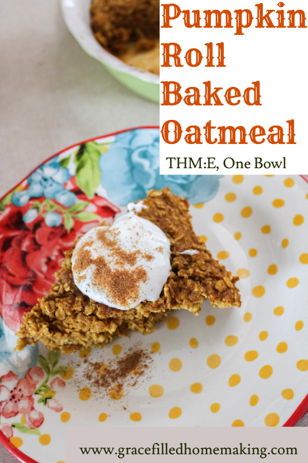 Need an easy Fall-inspired breakfast? Try my Pumpkin Roll Baked Oatmeal! Cakey Pumpkin Spice flavored oatmeal is topped by a creamy icing. What could be better? This is a Trim Healthy Mama E.