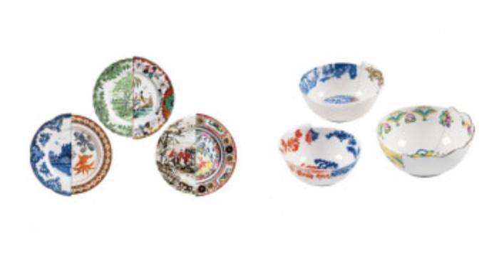 """Nous avons découvert cette semaine dans le magasin Frozen Fontain à Amsterdam, les porcelaines """"Seletti Hybride"""""""