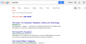 Missing WordPress Post:  Google Cached Example
