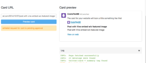 WordPress Vine embed as Summary Twitter Card