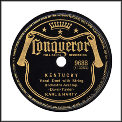 Conqueror  Record Label: 1938-1942. Black color with shield.