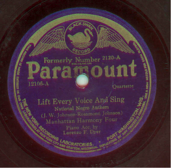 Record Label: Black Swan label as bought by Paramount in 1924.