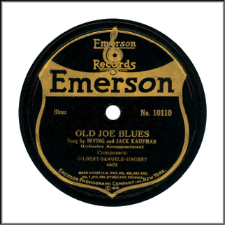 Emerson Record Label Early