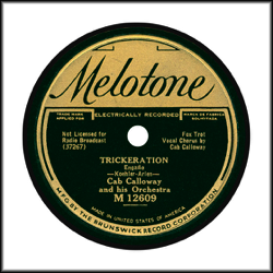 Record Label: 1934-1936. Gold and dark green.