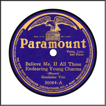 Record Label: Pre-Aug 1926. Note the blue and gold coloring