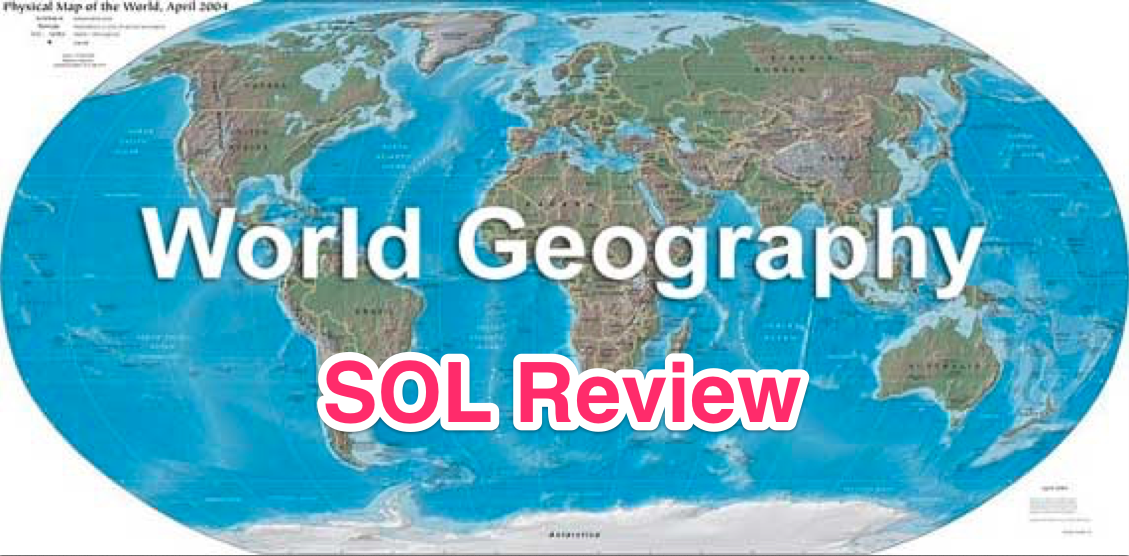 World Geography SOL Review