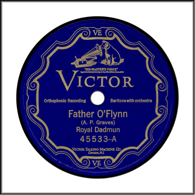 "Record Label: Oct. 1926-Oct. 1936. Scrolled design. Note the absence of patent numbers and copyright warnings. See also the mention of ""Orthophonic Recording"" and the ""VE"" at the bottom/top. This means the recorded has been electrically recorded. May also be in blue, black, red, and maroon."