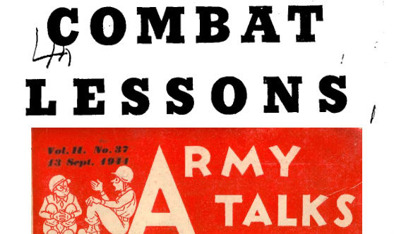 Combat Lessons and Army Talks