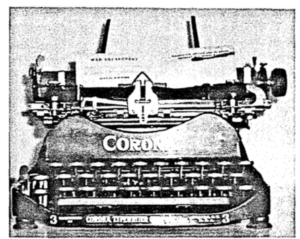 WW1 Corona Typewriter