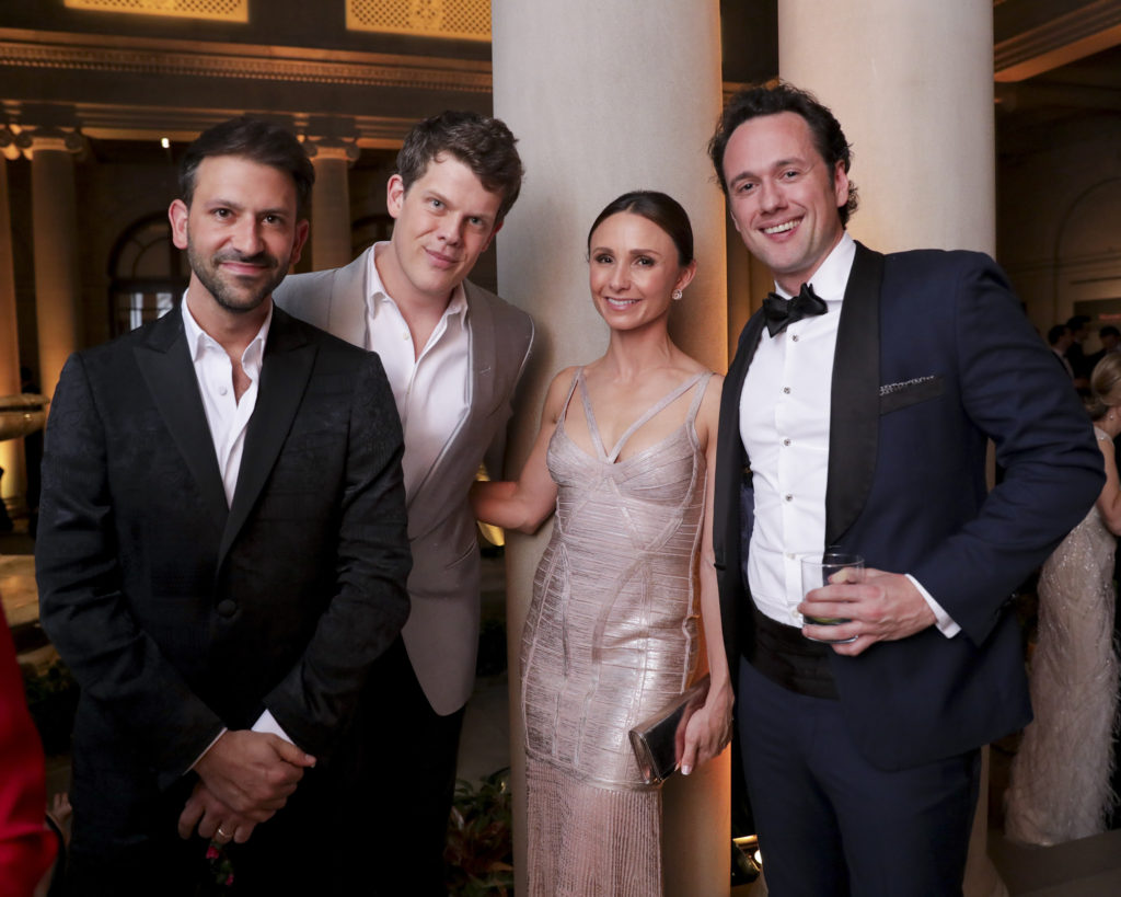 Chairman Paul Arnhold, Wes Gordon, Georgina Bloomberg, and Matthew Fitzpatrick; photo: Carl Timpone/BFA.com