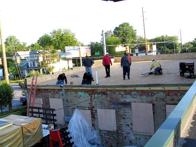 Neighborhood working together