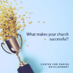 "Text ""What makes your church successful?"" alongside a trophy."