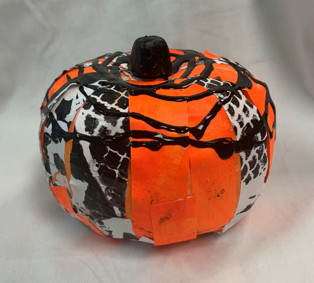 """Pumpkin"" mixed media sculpture 2019"