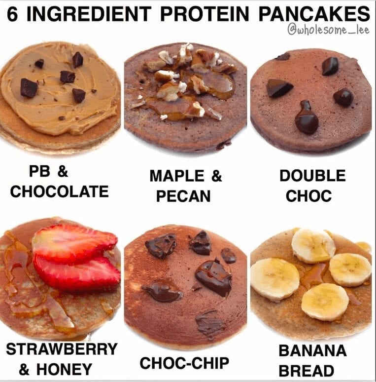 6 Ingredient Protein Pancakes
