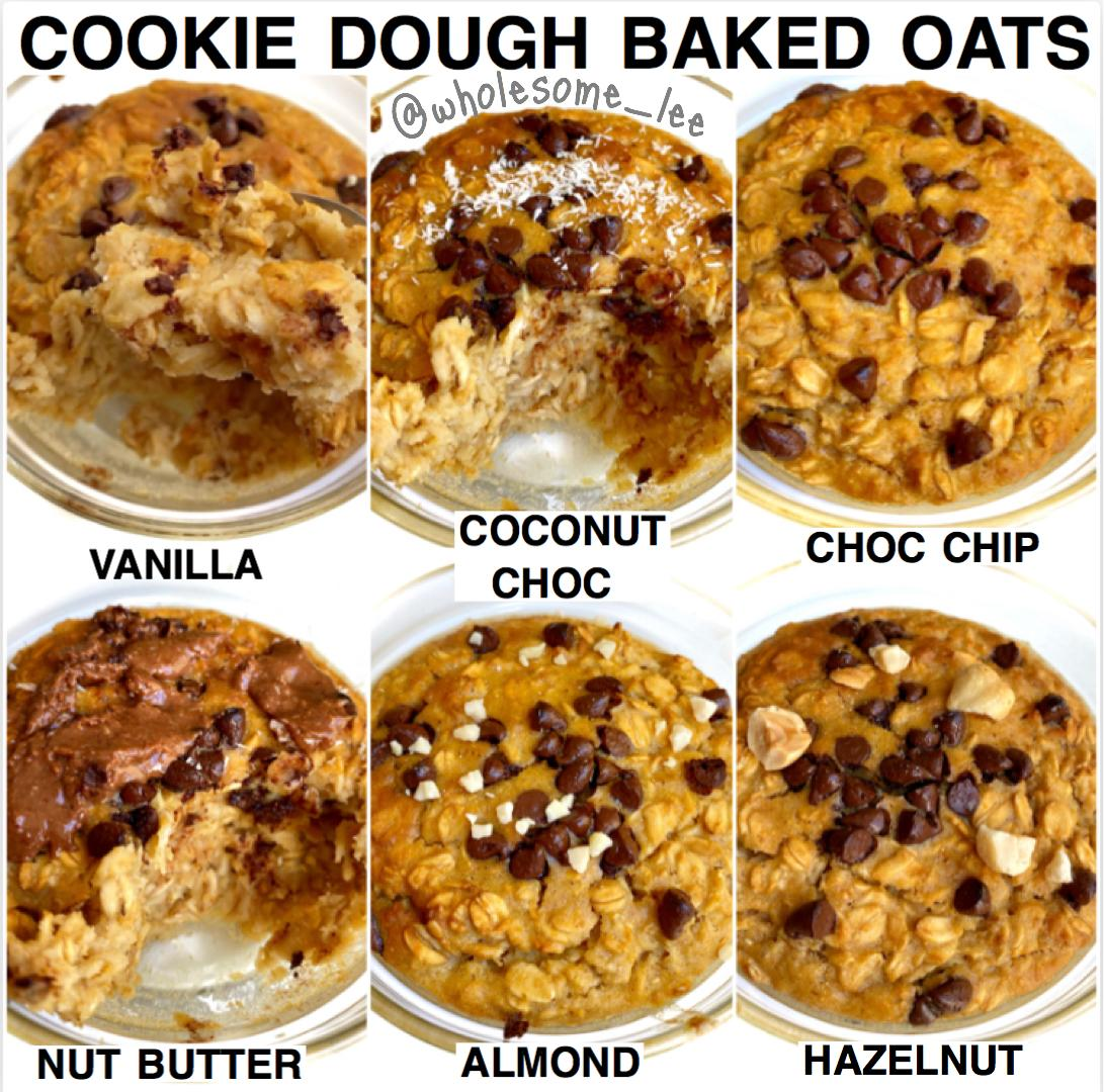 Choc Chip Cookie Dough Baked Oats