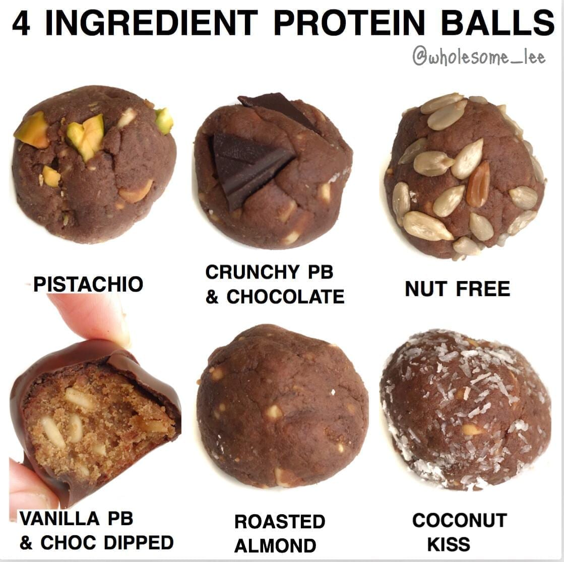 4 Ingredient No Bake Protein Balls
